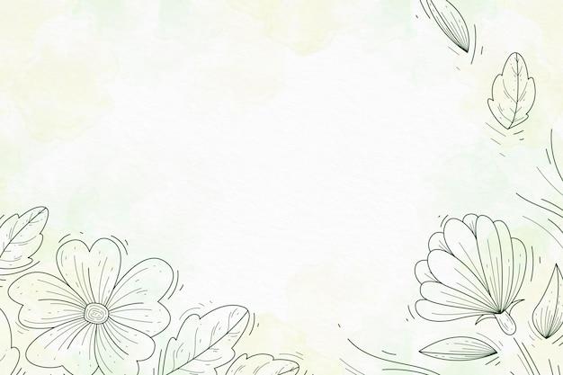 Pastello in polvere con elementi disegnati a mano carta da parati