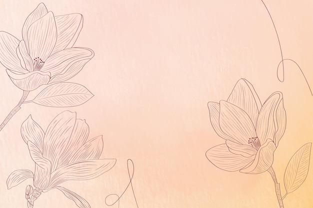 Pastello in polvere con elementi disegnati a mano - sfondo