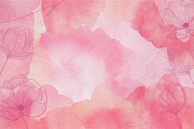 Pastello in polvere con fiori disegnati a mano