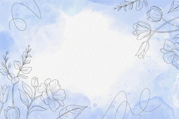 Pastello in polvere con sfondo di elementi disegnati a mano