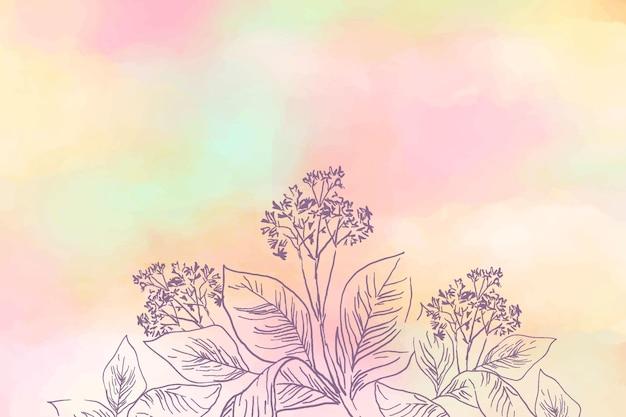 Pastello in polvere con sfondo di elementi