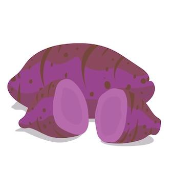 Patata dolce di patate viola o okinawa