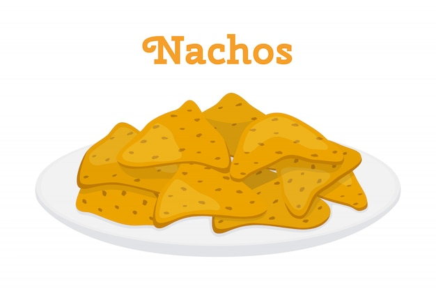 Patatine messicani nachos, fast food piccante