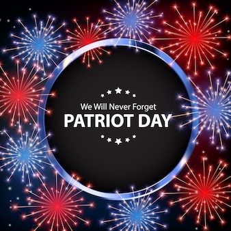 Patriot day background. poster dell'11 settembre. non lo dimenticheremo mai.