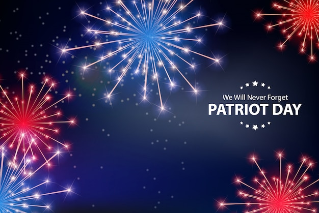 Patriot day background.