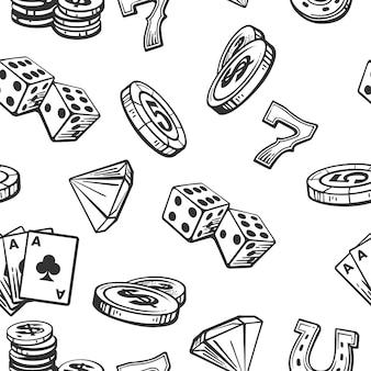 Pattern casino imposta simboli.