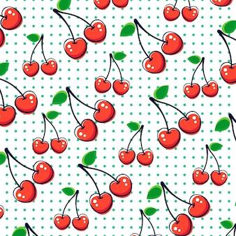 Pattern cherry senza soluzione di continuità