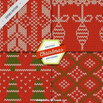 Pattern con decorazioni di natale a maglia
