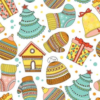 Pattern con elementi natalizi