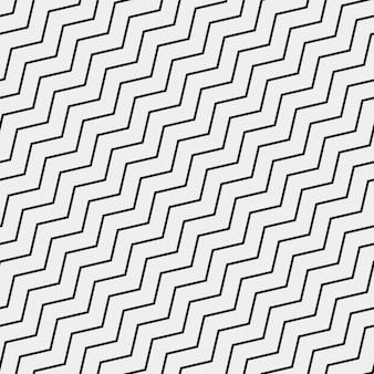 Pattern con linee a zig zag nero