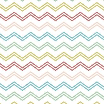Pattern con linee a zigzag colorati