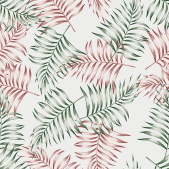 Pattern di foglie di palma