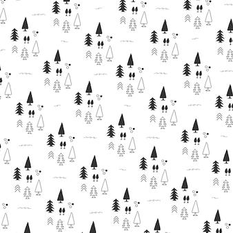 Pattern di sfondo con albero di natale