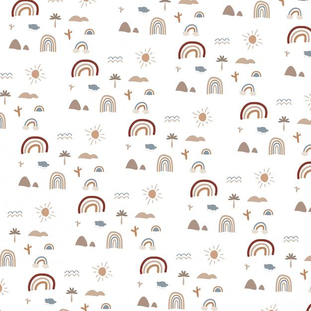 Pattern di sfondo con disegni per bambini