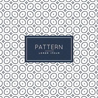Pattern di sfondo con forme ovali