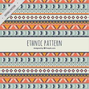 Pattern etnica con forme tribali