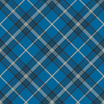 Pattern seanless plaid check tessuto blu check