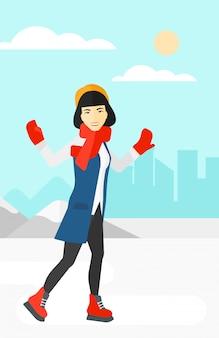 Pattinaggio su ghiaccio donna