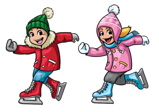 Pattinaggio su ghiaccio per bambini