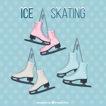 Pattinaggio su ghiaccio set