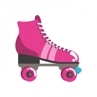 Pattini a rotelle icona pop art