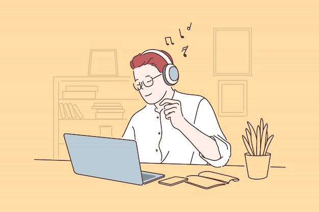 Pausa di lavoro, concetto di pausa