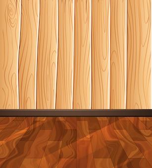 Pavimento in legno sullo sfondo