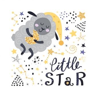 Pecora, stelle e design lettering