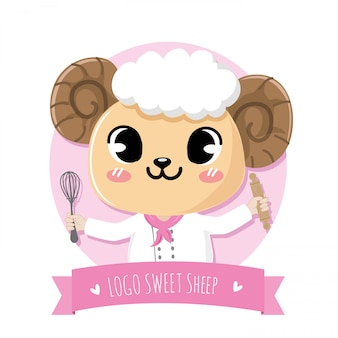 Pecore sveglie e amichevoli che fanno il dessert