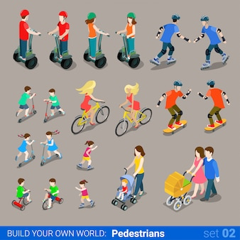 Pedoni su ruote per trasporto set di ruote per scooter segway per carrozzine per scooter.