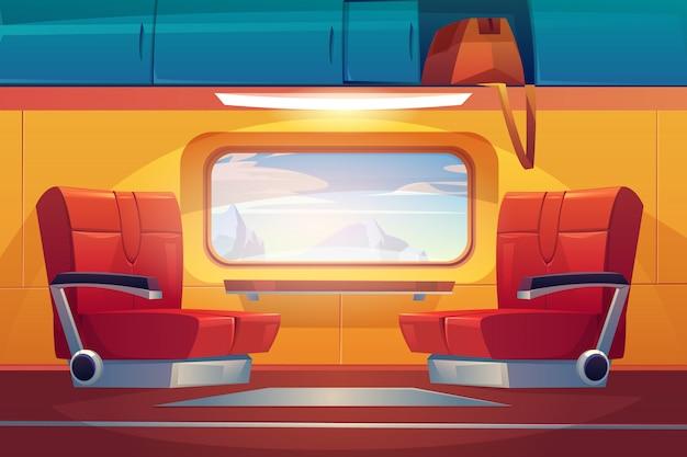 Pendolare ferroviario vuoto