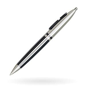 Penna a sfera in vero lusso nero e argento