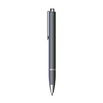 Penna vuota isolato su sfondo bianco