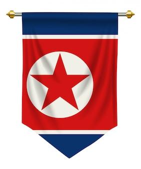 Pennant della corea del nord