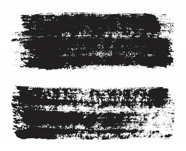 Pennellate dipinte a mano nera