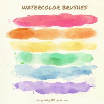 Pennelli sfondo colorato
