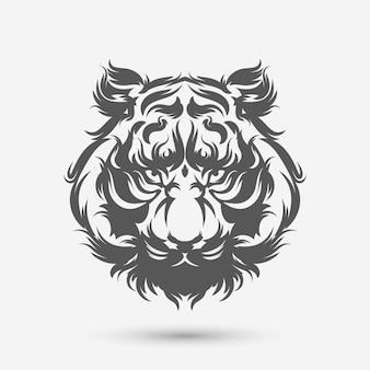 Pennello arte testa di tigre