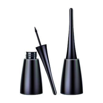Pennello per eyeliner e contenitori