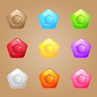 Pentagon candy block puzzle