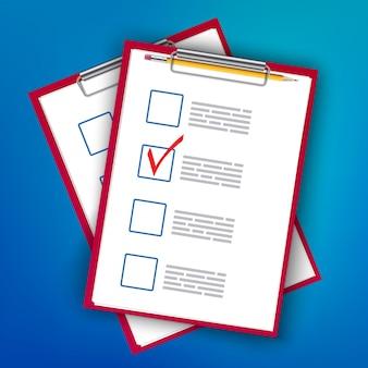 Per fare il segno di spunta nell'elenco, la pianificazione degli appunti da fare.