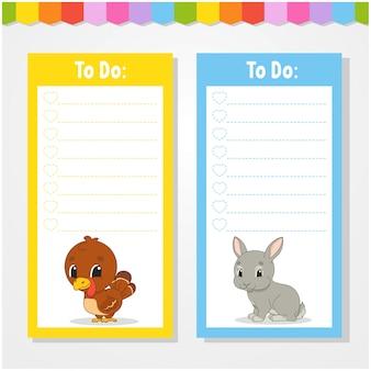 Per fare la lista per i bambini.