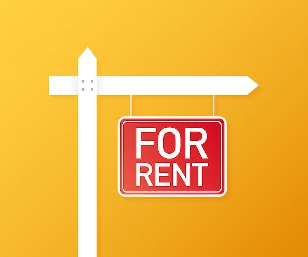 Per il segno di affitto. immobiliare, pubblicità, affitto casa, proprietà. .