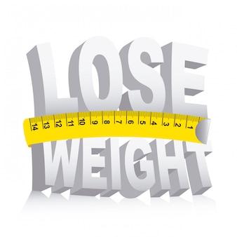 Perdere peso su sfondo bianco illustrazione vettoriale