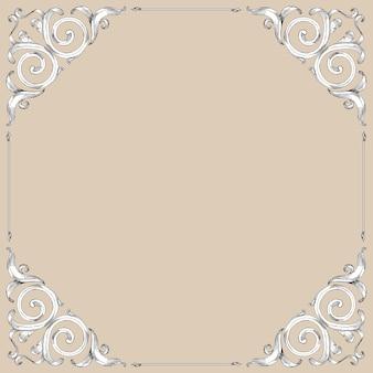 Pergamena con disegno a mano in stile barocco