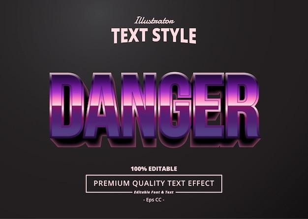 Pericolo effetto testo