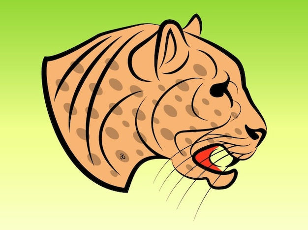 Pericoloso jaguar clip art vettoriali