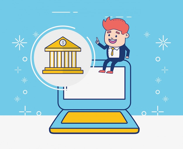 Persona di servizi bancari online