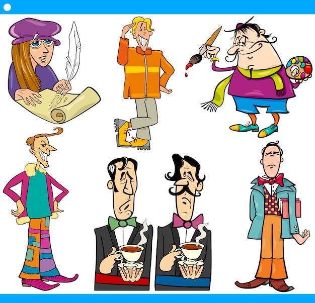 Personaggi degli uomini hanno impostato l'illustrazione del fumetto