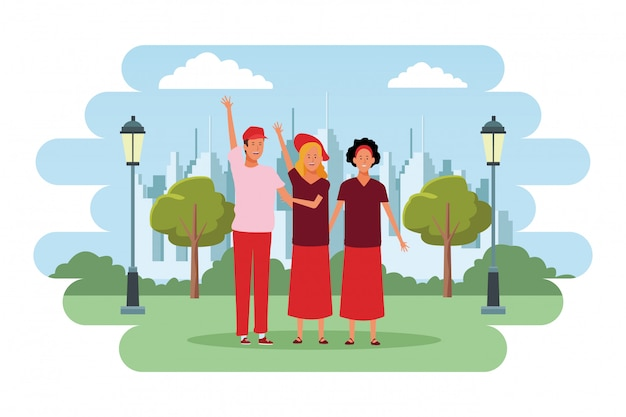Personaggi dei cartoni animati di avatar di persone