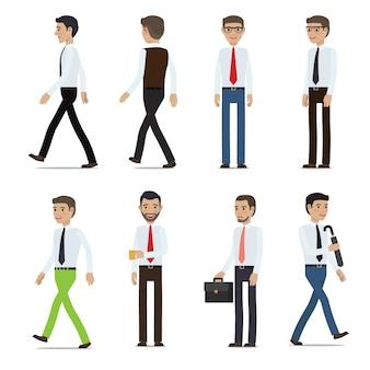Personaggi dei cartoni animati di uomini d'affari